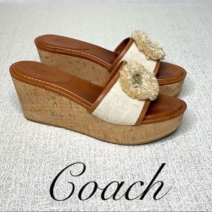 COACH CORK HEEL SLIDE WEDGE